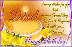 Happy Birthday Messages for your Friend's Father Best Birthday Wishes for a Friend's Dad, Happy Birthday Wishes & Messages for Your Dad's Birthday Cards. Happy Birthday Dad Poems, Happy Birthday Dad From Daughter, 17th Birthday Wishes, Birthday Greetings For Dad, Funny Birthday Message, Birthday Wishes Messages, Father Birthday, Dad Birthday Card, Birthday Love