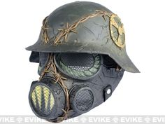 """Limited Edition Rlux Custom Airsoft Wire Mesh """"Trooper"""" Mask w/ Helmet"""