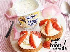 Sablés fraise et crème