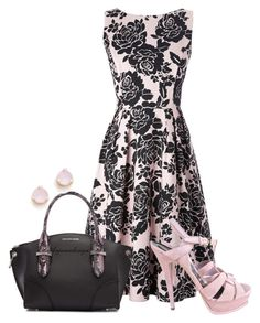 """""""PRINT DRESS"""" by arjanadesign ❤ liked on Polyvore featuring Yves Saint Laurent, Alexander McQueen and Kate Spade"""