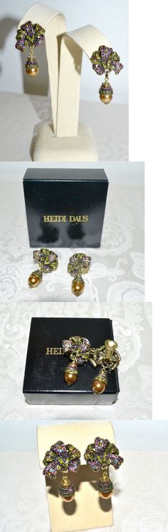 Other Fashion Jewelry 499: New $90 Heidi Daus Magnificent Pave Ribbon Drop Crystal Earrings Clip On -> BUY IT NOW ONLY: $68.6 on eBay!
