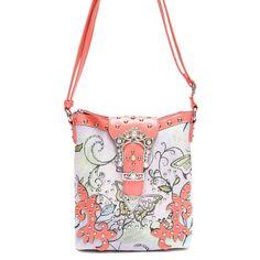 Western Cowgirl Butterfly Print Rhinestone Belt Design Messenger Bag #GetEverythingElse #MessengerCrossBody