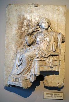 Demeter (Ceres), Greek relief (marble), 4th century BC, (Archeological Museum, Istanbul).
