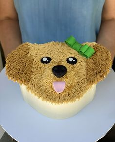 When you live in apartment and desperate for a puppy . . . here's a puppy cake to keep you sweet 🐶 Puppy Birthday Cakes, 13 Birthday Cake, 13th Birthday, Dog Birthday, Deli Cafe, Puppy Cake, Dog Bakery, Specialty Cakes, Novelty Cakes