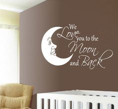 For my little moon :)  IF I have another child - I want to do this to his/her room.