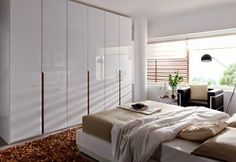 59 ideas wardrobe wood finish and glass panels   Bedroom Design