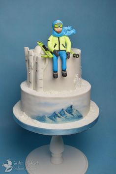 Skiing cake by JarkaSipkova