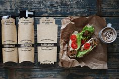 Hard Lunch T-Shirt Packaging on Behance