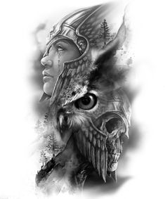 Viking Tattoo Sleeve, Norse Tattoo, Full Sleeve Tattoos, Skull Rose Tattoos, Black Tattoos, Body Art Tattoos, Bild Tattoos, Neue Tattoos, Tattoo Sketches