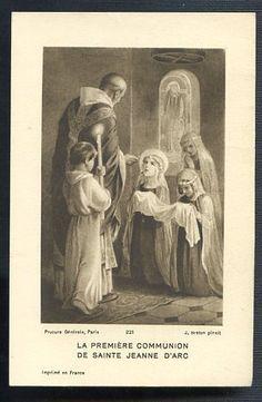 Joan of Arc's First Holy Communion. My daughter, Caroline's favorite Saint!