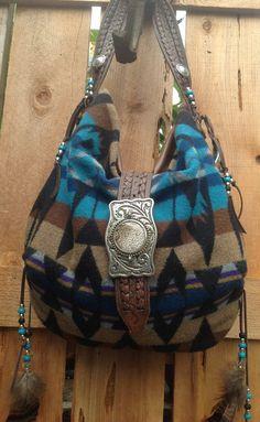 ༻✿༺ ❤️ ༻✿༺ Pendleton Wool & Brown Goatskin Leather | Double J. Originals ༻✿༺ ❤️ ༻✿༺