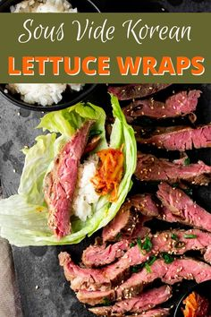 Sous Vide Skirt Steak is marinated and cooked to tender and juicy perfection with a sweet and savory bulgogi sauce. You'll love this sous vide bulgogi served in lettuce wraps with Korean sticky rice and kimchi! Asian Noodle Recipes, Asian Chicken Recipes, Asian Dinner Recipes, Easy Asian Recipes, Sous Vide Filet Mignon, Sous Vide Lamb, Bulgogi Marinade, Bulgogi Sauce, Korean Lettuce Wraps