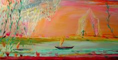 I absolutely adore these colors of the Fire Boats painting by the Finnish artist Nanna Susi. Contemporary Artists, Modern Art, Opposite Colors, The Masterpiece, Seascape Paintings, Mixing Prints, Ciel, Art Boards, Art Pieces