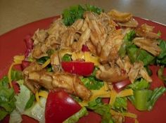 365 Days of Slow Cooking: Recipe for Slow Cooker BBQ Chicken Salad