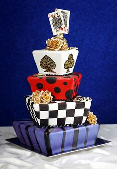 Wedding Cake. Without the playing cards very cool.