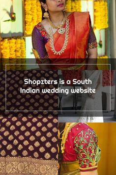 Shopzters is a South Indian wedding website Wedding Sarees, Wedding Website, Sari, Indian, Fashion, Saree, Moda, Fashion Styles, Fashion Illustrations