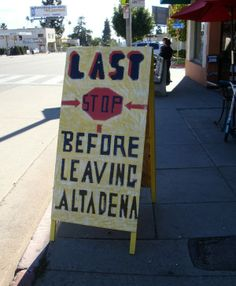 Outside of the Coffee Gallery in Altadena, CA.
