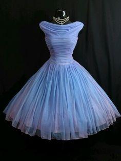 Periwinkle Prom dress. It has a 50s feel, I love it ❤