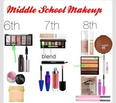 Middle School Makeup this also works for people who are minimalists when it comes to makeup.if tween girls are going to experiment with make up, make sure they do it right School Looks, School Make Up, School Tips, School Ideas, Makeup Routine, Makeup Kit, Skin Makeup, Beauty Makeup, Makeup Ideas