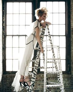 I am repinning because I like the design on the ladder!!!     (Light & Shadow | Simone W | Emre Guven #photography | Marie Claire Turkey May 2012)