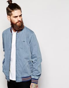 5d44dab201a Quiksilver Bomber Jacket in Washed Cotton