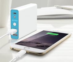 A perfect battery backup for your mobile devices. The 10400 mAh Portable Charger Power Bank can be used to charge any USB device multiple times which includes Apple and Android smartphones and tablets, e-readers, portable speakers and more.