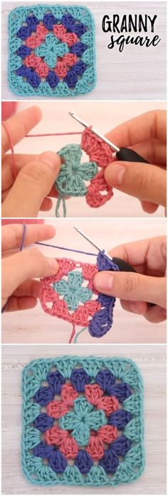 Crochet Granny Square Patterns How To Crochet Beautiful Granny Square - How To Crochet Beautiful Granny Square Granny Square Crochet Pattern, Crochet Squares, Crochet Blanket Patterns, Crochet Motif, Crochet Stitches, Free Crochet, Knit Crochet, Knitting Patterns, Easy Granny Square