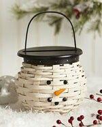 Longaberger Snowman Basket set