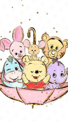 Cute Drawings Disney Winnie The Pooh Kawaii Disney, Art Disney, Disney Kunst, Cartoon Wallpaper Iphone, Disney Phone Wallpaper, Cute Cartoon Wallpapers, Baby Wallpaper, Trendy Wallpaper, Perfect Wallpaper