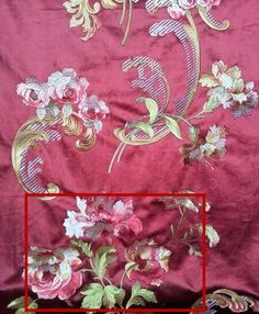 Deluxe Italian Velvet Embrodiery Floral Drapery Fabric Curtain Sofa Chair fabric