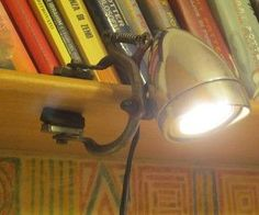 clamp lamp made from bicycle parts
