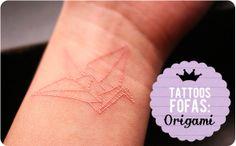 Tattoos Fofas: Origami