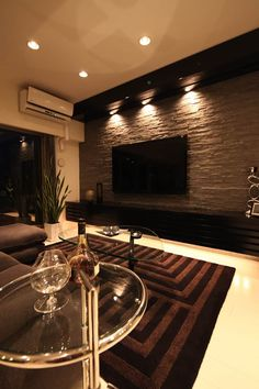 gorgeous 48 Adorable Living Room Wall Design Ideas That You Need To Try Home Stairs Design, Tv Wall Design, Home Room Design, Home Interior Design, Interior Decorating, Living Room Tv Unit Designs, Living Room Decor Cozy, House Rooms, Home Decor