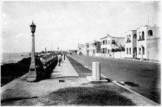 Paseo Presidente Billini-Malecón de la ciudad. Década 1940