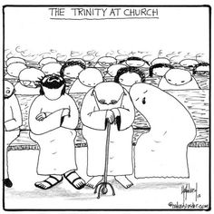 "A little lighthearted humor this morning with the Holy Trinity at church. ""So God Neither Slumbers nor Sleeps?"" http://www.patheos.com/blogs/nakedpastor/2013/09/so-god-neither-slumbers-nor-sleeps/"