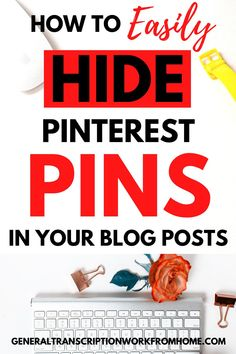 How to easily hide Pinterest pin images in blog posts. Learn 2 easy ways to hide pins in your blog posts and get more Pinterest clicks and repins. #hidepinterestimages #hidepinsonpinterest #pinteresttips #bloggingtips #bloggingtips Make Money Blogging, Make Money Online, How To Make Money, Basic Coding, Best Online Jobs, Pinterest Pin, Online Income, Seo Tips, Work From Home Jobs