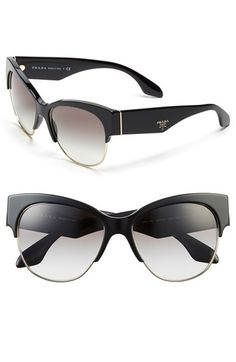 Prada 'Fashion Catwalk' 56mm Cat Eye Sunglasses available at #Nordstrom