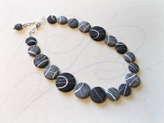 beach stones Necklace in papier mache Original jewelry inspired by nature Eco-chic Wedding necklace