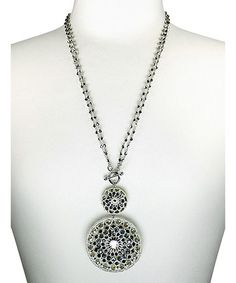 Another great find on #zulily! Silver Marisol Pendant Necklace #zulilyfinds