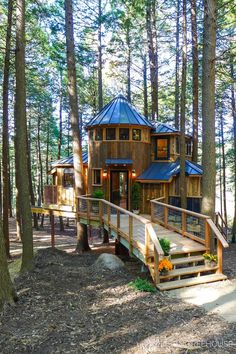 Pete Nelson's gallery of residential, public, and commercial treehouses built by Nelson Treehouse and Supply. Beautiful Tree Houses, Cool Tree Houses, Beautiful Homes, Treehouse Living, Tree House Plans, Cabana, Tree House Designs, Shed Homes, Cabins In The Woods