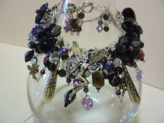123734f13e Goth Fairy Art Charm Bracelet Charm Braclets