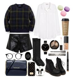 """You're close to me ×♡×"" by vitalinav ❤ liked on Polyvore featuring mode, Ralph Lauren, Mason by Michelle Mason, Hue, H&M, MICHAEL Michael Kors, PhunkeeTree, Olivia Burton, NARS Cosmetics et Burberry"