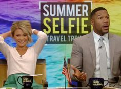 Michael Strahan Accidentally Gives Away a Trip on Live!—and Kelly Ripa's Reaction Is Priceless: Watch! Free Vacations, Vacation Resorts, Michael Kelly, Michael Strahan, Kelly Ripa, Trivia Questions, The Good Old Days, My Children, Celebrity Crush