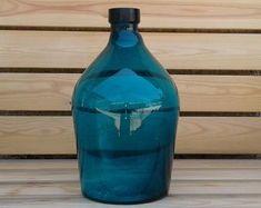 by ForBeverage Wine Glass Candle Holder, Wine Bottle Vases, Elegant Centerpieces, Black Decor, Jar Crafts, Wrapped Bottles, Candles, Etsy, Platform