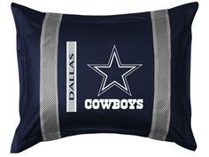 Dallas Cowboys Sidelines Sham by Sports Coverage Dallas Cowboys Football, Cowboys 4, Dallas Cowboys Signs, Football Stuff, Football Team, Pillow Shams, Pillows, Pillow Cases, Cowboy Love