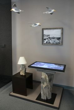 A display in the Digital View showroom featuring original Pacific shallows video from Monterey. Feb 3, 2014.