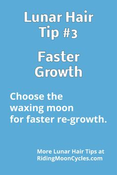 Lunar Hair Chart: find out which signs work for faster growth.
