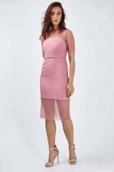 Circle Lace Midi Dress