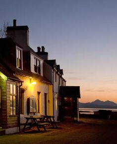 Applecross Inn, Applecross, Wester Ross  The views from the beer garden towards Raasay and the Cuillin mountains of Skye are ample reward for a hair-raising journey across the 2,053-foot Bealach na Ba pass.