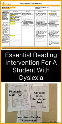 Here you'll find a new approach for the teaching of reading and spelling. It provides highly appropriate intervention for students with a learning difficulty.   http://topnotchteaching.com/lesson-ideas/essential-reading-intervention-student-with-dyslexia/ Wenn du mehr zu LRS und Übungsmöglichkeiten erfahren möchtest, schau dir den LRS-Club auf LRS-Club.de an.